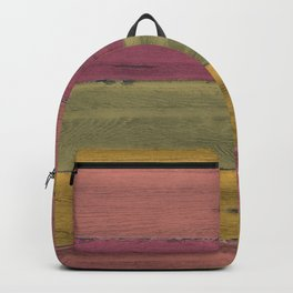 Colorful Wood Grain Backpack