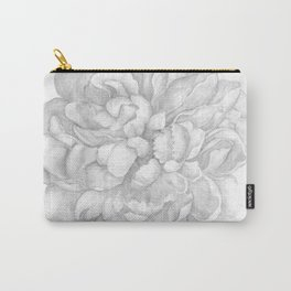 Large Gray Peony Watercolor Carry-All Pouch