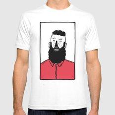 BearD Guy White Mens Fitted Tee MEDIUM
