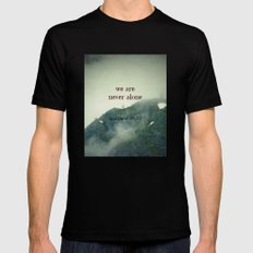 We Are Never Alone Mens Fitted Tee Black MEDIUM
