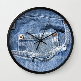 Old Jeans Wall Clock
