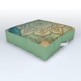 Faded Bohemian Mandala Outdoor Floor Cushion