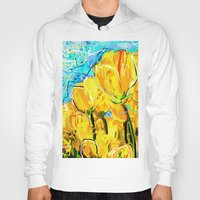 tulips Hoodies featuring Tulips  by sladja