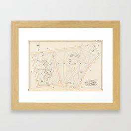 Vintage Map of The Boston Commons (1895) Framed Art Print