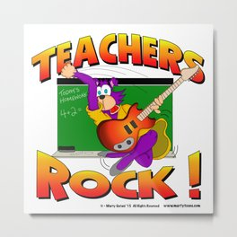 TEACHERS ROCK Metal Print