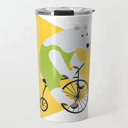 Cycling Polar Bear Triangle Travel Mug