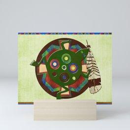 Native American Folk Art Frog Mini Art Print
