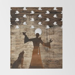 Saint Francis of Assisi Throw Blanket