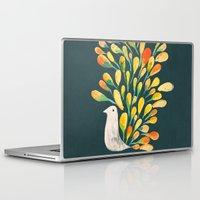 peacock Laptop & iPad Skins featuring Watercolor Peacock by Picomodi