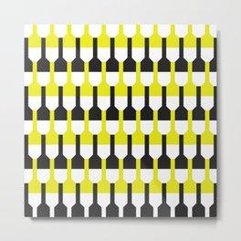 Geometric Pattern 253 (yellow and black bottles) Metal Print