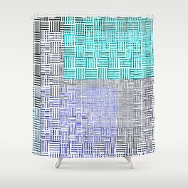 Abstract City Block Shower Curtain