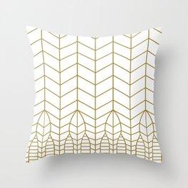 ART DECO IN WHITE Throw Pillow