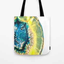 Blue and Yellow Agate Tote Bag