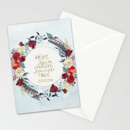 The heart is an arrow... Six of Crows Quote Stationery Cards