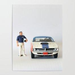 Vintage Racer Muscle Car Poster