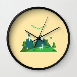 Nature & Mountains Vector Wall Clock