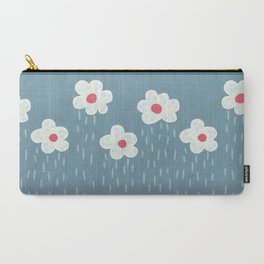 Rainy Flowery Clouds Carry-All Pouch