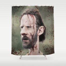 Rick Grimes Shower Curtain
