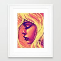 sunshine Framed Art Prints featuring Sunshine by Suarez Art
