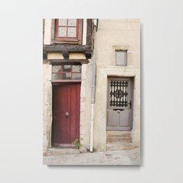 Two Doors in France Metal Print