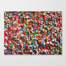 GUM WALL Canvas Print