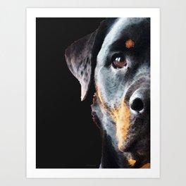 Rottie Love - Rottweiler Art By Sharon Cummings Art Print