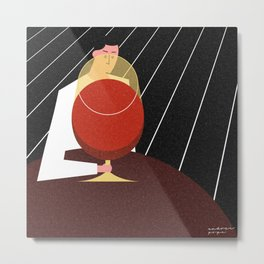 Lonely Friday at the Bar Metal Print