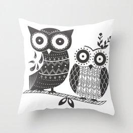 Boho Owl Throw Pillow