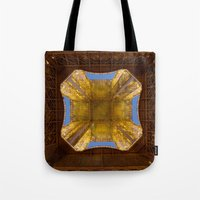 eiffel tower Tote Bags featuring Eiffel Tower by Jazzmin