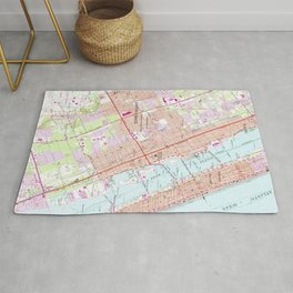 Vintage Map of Daytona Beach Florida (1952) Rug