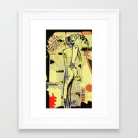 women Framed Art Prints featuring Women by sladja