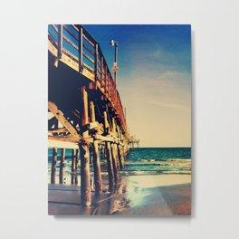 Cherry Grove SC Fishing Pier Metal Print