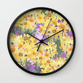 Yellow Daffodil Garden Wall Clock