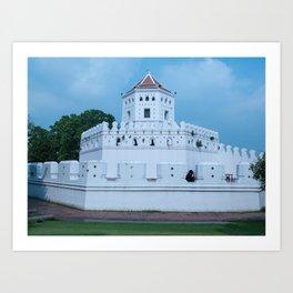 Phra Sumen Fort, Bangkok, Thailand Art Print