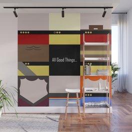 All Good Things - square Minimalist Star Trek TNG The Next Generation 1701 D  startrek  Trektangles Wall Mural