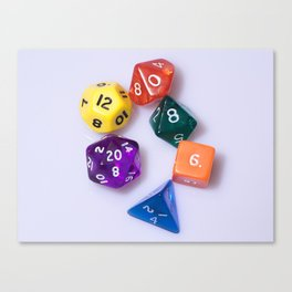 Poly Sided Dice Canvas Print