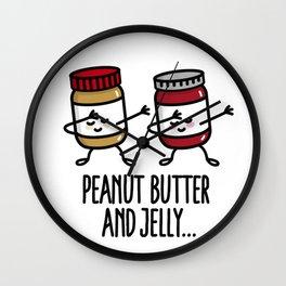 Dabbing dab peanut butter and jelly jar / jars Wall Clock
