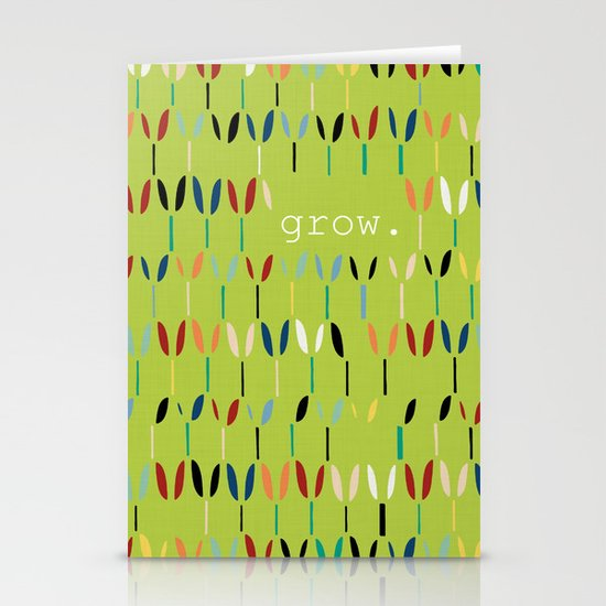 grow. Stationery Cards