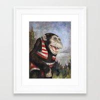 monty python Framed Art Prints featuring Monty by hazael anaya