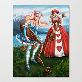 Steampunk Gothic Lolita Alice Croquet Canvas Print