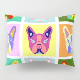 Boston Terrier Pop Art Pillow Sham