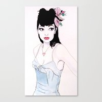 mac Canvas Prints featuring ABBIE MAC by michael newton