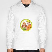 aquaman Hoodies featuring Aquaman and Mera Get Married Underwater by Hoboxia