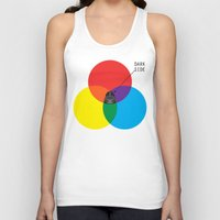 dark side Tank Tops featuring Dark Side by I Love Doodle