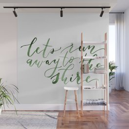 Let's run away (green) Wall Mural