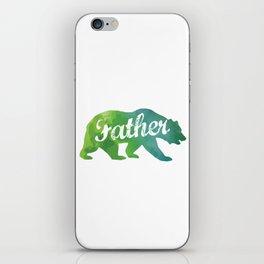 Father Watercolor Bear iPhone Skin