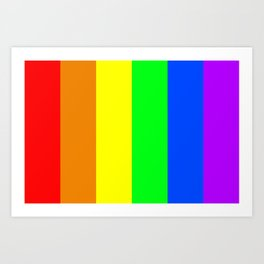 Rainbow flag - Vertical Stripes version Art Print