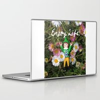 percy jackson Laptop & iPad Skins featuring Percy - Enjoy Life by Rich Mitch Pics
