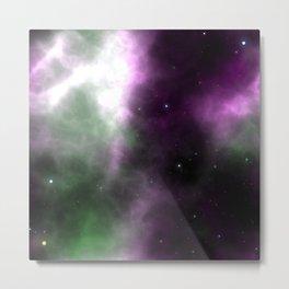 Purple Nebula Space Galaxy Metal Print
