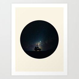 Staring Into The Milky Way Galaxy Over The Australian Outback Art Print